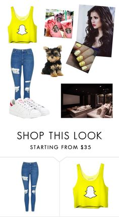 """""""Untitled #231"""" by mildabas ❤ liked on Polyvore featuring Topshop and adidas"""