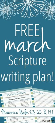 Looking for a new Bible reading plan? Check out this FREE Scripture writing plan for March! Printable plan & journal page included!