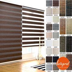 Blackout Premium Shade Zebra Two Layer Fabric Window Blinds Anti UV Custom Order