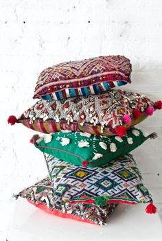 We LOVE stacking our Moroccan pillows!!