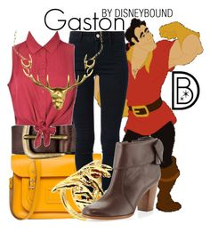 """""""Gaston"""" by leslieakay ❤ liked on Polyvore featuring Disney, The Cambridge Satchel Company, Liebeskind, STELLA McCARTNEY, Ally Fashion, House of Harlow 1960, Kate Spade and Gisele Ganne"""