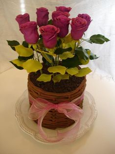 Sugar Garden Cakes - For Every Occasion Mini Tortillas, Flower Pot Cake, Flower Cakes, Mini Cakes, Cupcake Cakes, Cupcakes, Beautiful Cakes, Amazing Cakes, Single Tier Cake