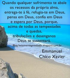 Chico Xavier - Emmanuel Zen, Jesus Prayer, Strong Quotes, Inspirational Thoughts, Family Love, Good Vibes, Life Lessons, Spirituality, Cool Stuff