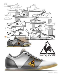 Lifestyle Sneaker Design Exercise by Matthew Choto, via Behance