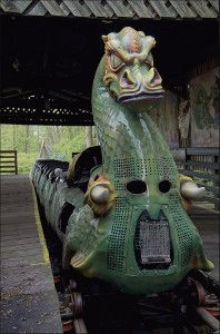 Dragon Ride at Abandoned Theme Park, Camelot. Why be abandoned when