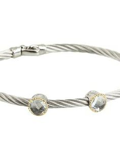 Charriol Bangle - Celtic Classique 04-32-S932-01 #accessories  #jewelry  #bracelets  https://www.heeyy.com/suggests/charriol-bangle-celtic-classique-04-32-s932-01-stainless-steel-cable-yellow-gold/
