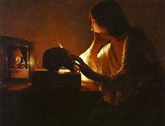 《鏡のマグダラのマリア》ラ・トゥール