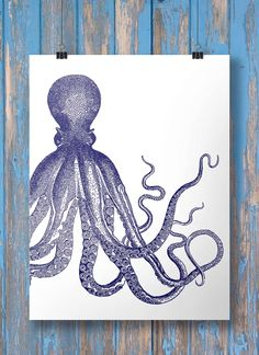 Nautical octopus print - Printable wall art INSTANT DOWNLOAD par SouthPacific sur Etsy https://www.etsy.com/fr/listing/204132824/nautical-octopus-print-printable-wall