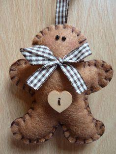 Felt Gingerbread Man ~ folksy.com