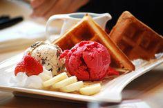 Ice cream and waffles.. by Super Qatari - This looks so good!