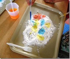 cool volcano that the kids would love to make on a snow day