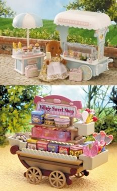 Sylvanian Families adorable play sets.