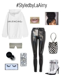 """Untitled #297"" by airis-kemp on Polyvore featuring Off-White, Topshop, Balenciaga, Alexander Wang and Christian Dior"