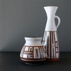 21-007 Lapid Israel Wide Abstract Stoneware Vase - Ray New York Ceramic Decor, Stoneware, Pottery, Vase, Graphic Design, Ceramics, Abstract, Israel, York