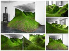 Landscape Installation art by Kristian Nygard in Oslo