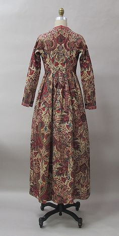 Dutch cotton and linen Robe. Mid 18th century