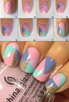 Beautiful Patterned Warm Colour Nail Tutorial
