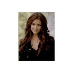 Katherine pierce hair.jpg ❤ liked on Polyvore featuring hair, nina dobrev, vampire diaries, people and cabelos