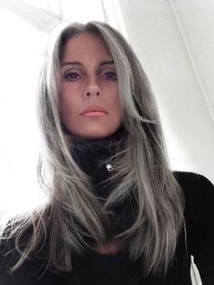 Hair Color Gray Ageless Beauty Ideas For 2019 Long Gray Hair, Silver Grey Hair, White Hair, Grey Hair Over 50, Hair Dos, My Hair, Grey Hair Inspiration, Corte Y Color, Natural Hair Styles