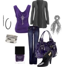 purple outfit, created by schatzibags on Polyvore