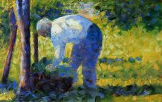 The Gardener by Georges Seurat 1882-83 (Museum Of Fine Arts, Boston)