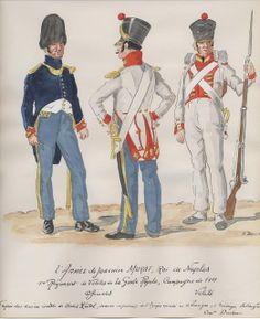 Ufficiale e Vélites del rgt. Vélites della guardia reale di Murat