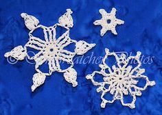 Ravelry: Garden 8, 9 and 10 Snowflakes pattern by Deborah Atkinson