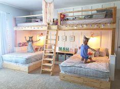 #girlsroomdesign #girlsbedroom #bunkbeds #beddysbeds Big Girl Bedrooms, Girls Bedroom, Girls Room Design, Bunk Beds, Places, Furniture, Home Decor, Decoration Home, Loft Beds