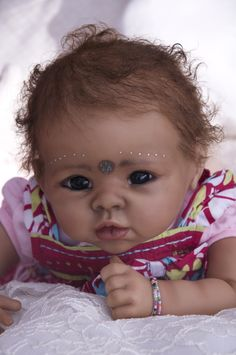 Baby Dolls From India   REBORN BABY INDIAN GIRL DOLL ~   Dolls