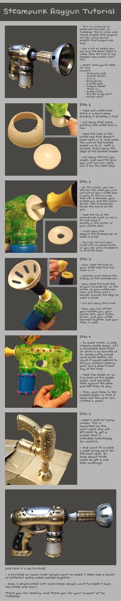 Steampunk Raygun Tutorial by Bllacksheep on deviantART