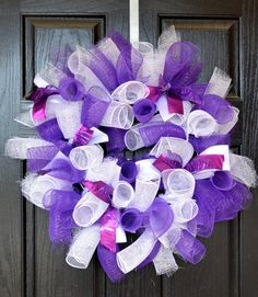 Deco Mesh Wreath - TCU Wreath - College Wreath - Football Wreath - Horned Frogs - Purple Wreath - Welcome Home Wreath