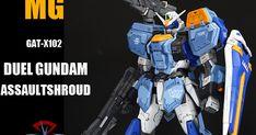 MG Duel Gundam Assaultshroud - Customized Build Gundam, The 100, Model, Scale Model, Models, Template, Pattern, Mockup