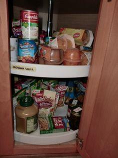 Organizing A Lazy Susan Cabinet | ThriftyFun