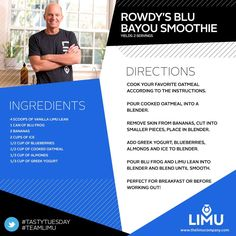 Blu Limu Smoothie - Energy Smoothie drink. davidspisak.iamlimu.com