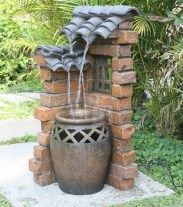 Beautiful water fountains ideas for your front yard 05