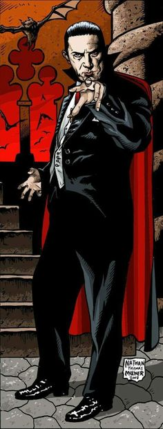 Universal Classic Monsters Art : Bela Lugosi as Dracula by Nathan Thomas Milliner