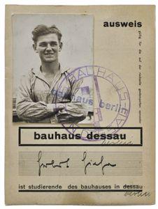 Herbert Hirche's student ID at the Bauhaus