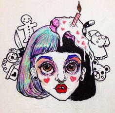 melanie martinez artwork by @/heavymetalheartboy on instagram