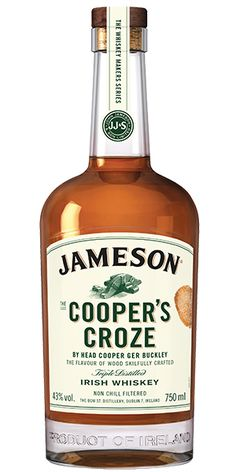 Jameson Cooper's Croze Irish Whiskey is a bold, non-chill filtered whiskey, maintaining a fine balance between vanilla sweetness, rich fruit flavors, floral and spice notes and oak. – Distiller's Notes