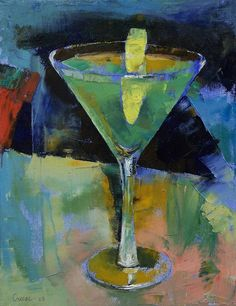 Apple Martini painting