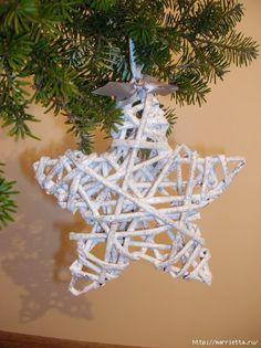Новогоднее плетение из газет. ЗВЕЗДЫ из газетных трубочек (14) (479x640, 242Kb)