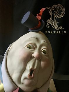Karen Portaleo, Cake Decorator and Chocolate Artist, Atlanta Biscuit, Create A Cake, Sculpted Cakes, Evil Clowns, Humpty Dumpty, Paperclay, Moon Art, Fantastic Art, Clay Projects
