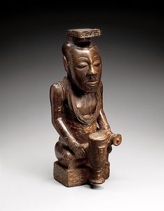 Ndop figure: Kot áNce or Kot áMbúl Date: 19th-early 20th century Geography: Democratic Republic of the Congo, Western Kasai Culture: Kuba peoples Medium: Wood Dimensions: H.: 20 1/8 in. (51.1 cm)