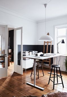 A stylist's home full of personality | minimal workspace