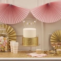 DECO BABY SHOWER PASTEL ROSE ET OR -BABY SHOWER FILLE- GIRL BABY SHOWER DECORATION PASTEL GOLD AND PINK