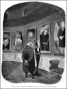 Cartoons by Charles Addams, creator of The Addams Family. The Addams Family, Addams Family Cartoon, Adams Family, The New Yorker, Frankenstein, Gomez And Morticia, Morticia Addams, Charles Addams, Creepy Art