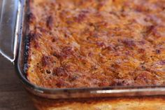 "Almost 5 Ingredient Pizza Spaghetti Pie (PaleOMG) - use ""nomato"" sauce instead of pizza sauce."