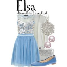 Elsa (Outfits by DisneyThis-DisneyThat @Polyvore) #Frozen