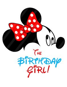 Disney Inspired Birthday Girl Pink Digital Image for iron-ons, heat transfer, T-Shirt, Onesies, Bibs Disney Happy Birthday Images, Happy Birthday Clip Art, Cute Happy Birthday, Minnie Birthday, Mickey Minnie Mouse, Birthday Wishes, Girl Birthday, Birthday Greetings, Mickey And Friends
