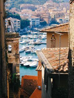 Puerto Ercole en La Toscana, Italia.